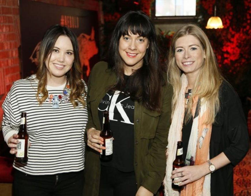 leila bui nikki conway and emma forde at the launch of orchard thieves cider  medium