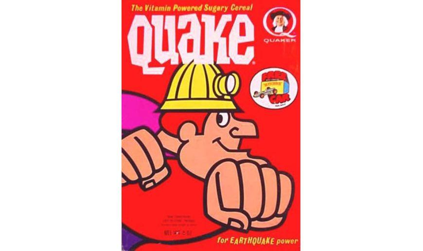 22-Quake Cereal Box