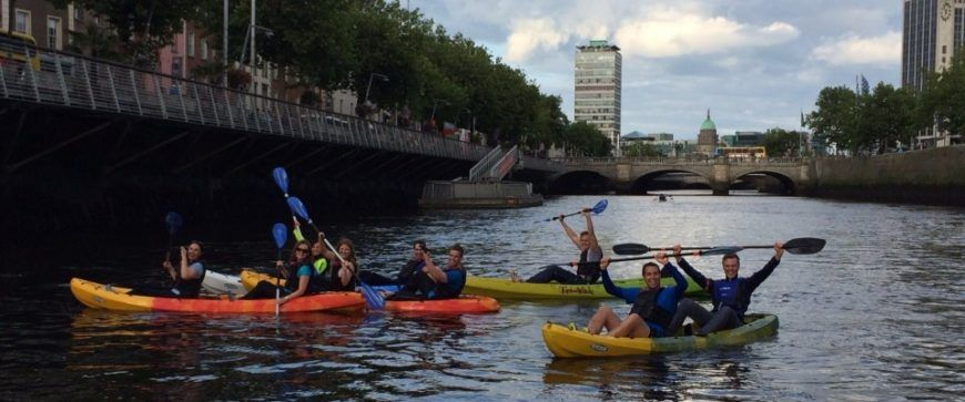 Kayaking-on-the-Liffey