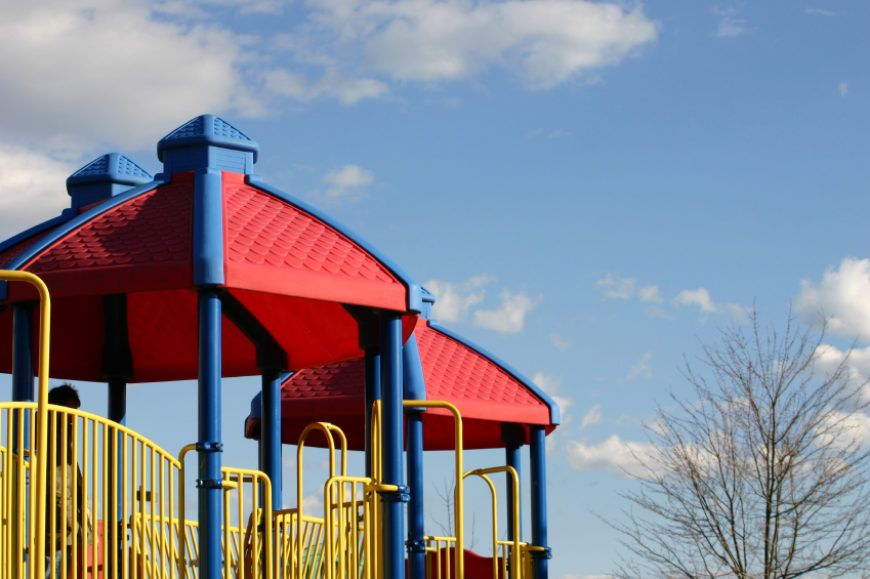 It's old school but there's nothing wrong with heading to your local playground