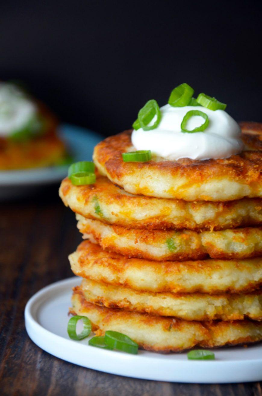 cheesy-leftover-mashed-potato-pancakes-recipe 1