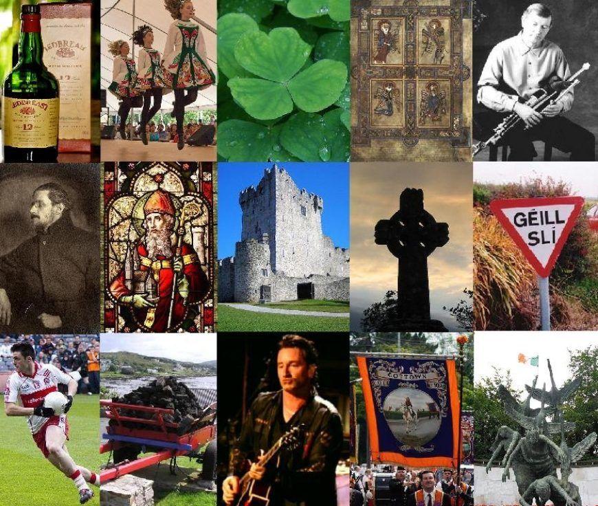 Irish culture collage
