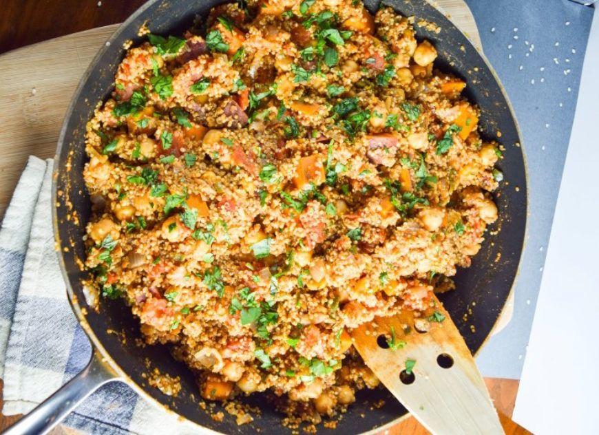 one pot tandoori quinoa vegan 1