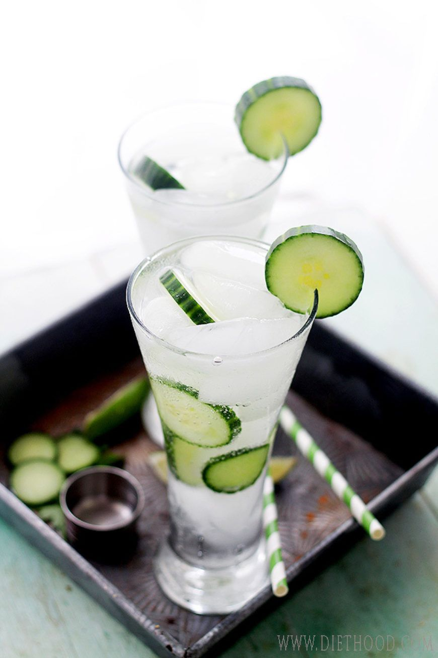 3 Cucumber Mojitos From Diethood