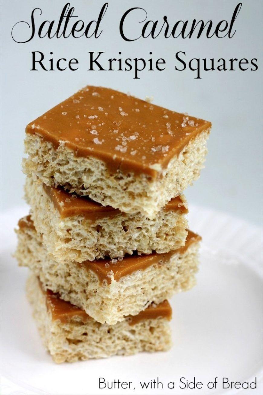 Salted Caramel Rice Krispie Squares 031 Pin