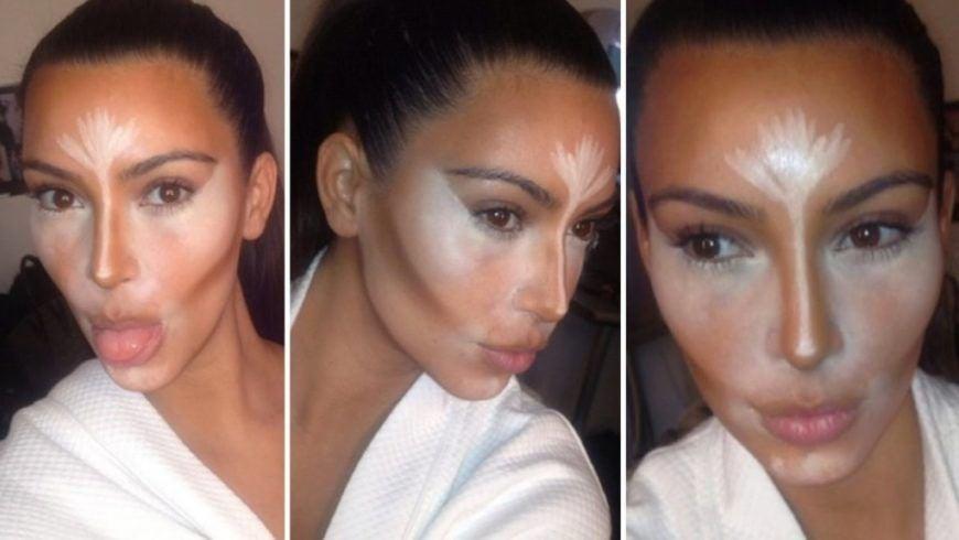 Kim Kardashian Contouring Makeup