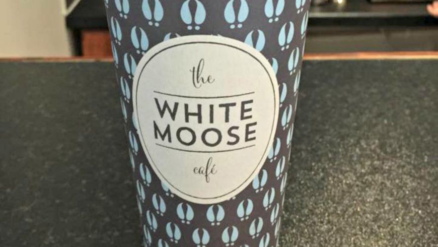 White Moose Cafe Coffee Cup