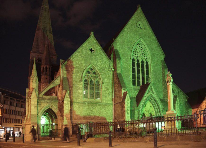 St  Andrews Church  St  Andrew Street Dublin  2010 03 17 Night