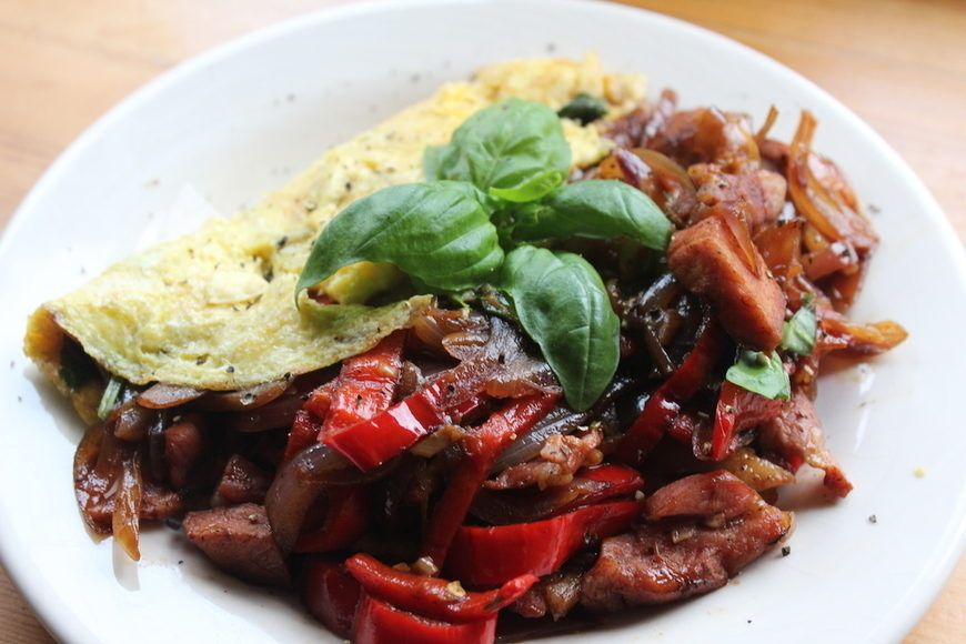 Bacon And Pepper Omelette