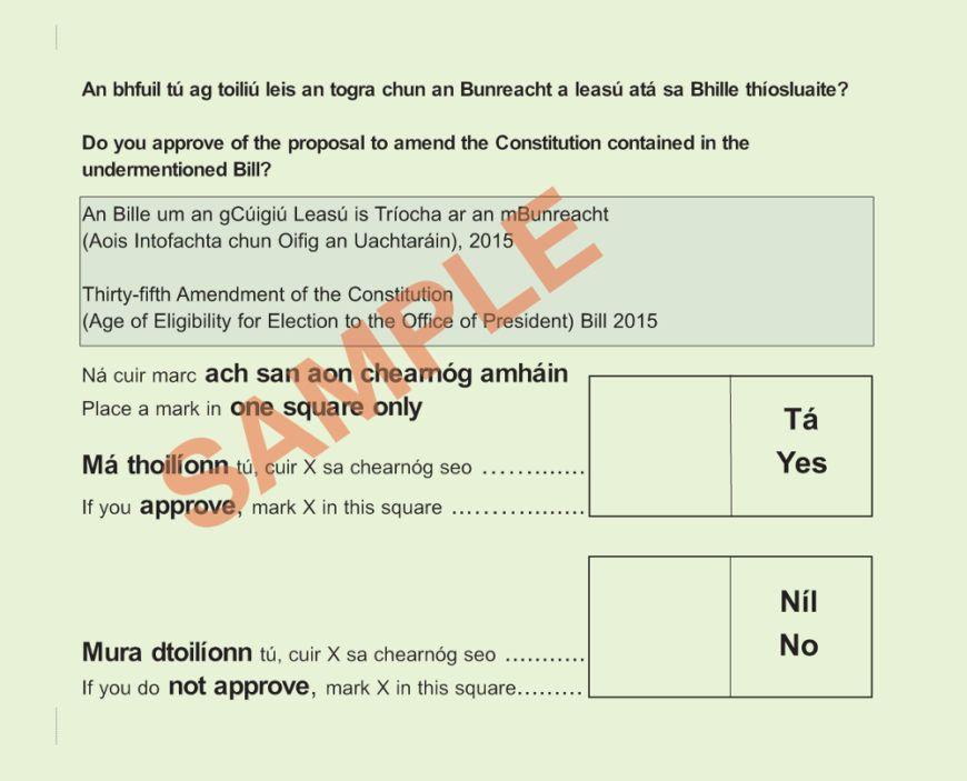 ballot presidential