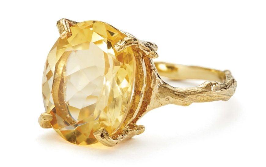 Chupi Print Gold Ring Drop In The Wild Citrine 1