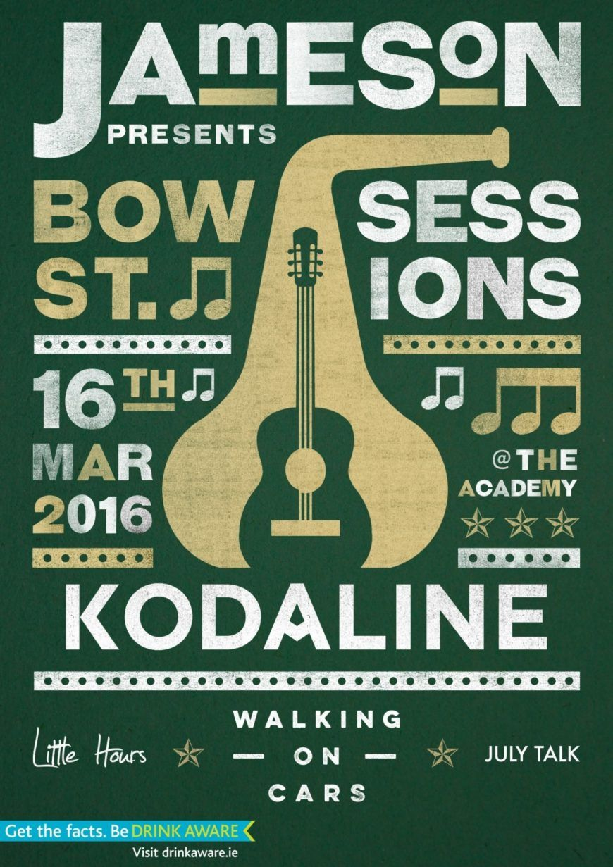 Jameson Bow St Sessions 16Th March 2016