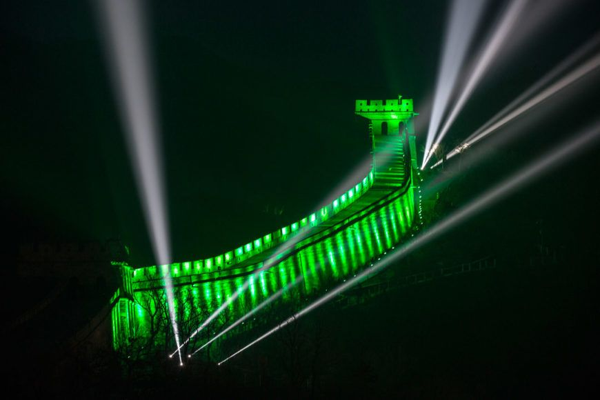 Pic 1 Great Wall Of China Joins Tourism Irelands Global Greening