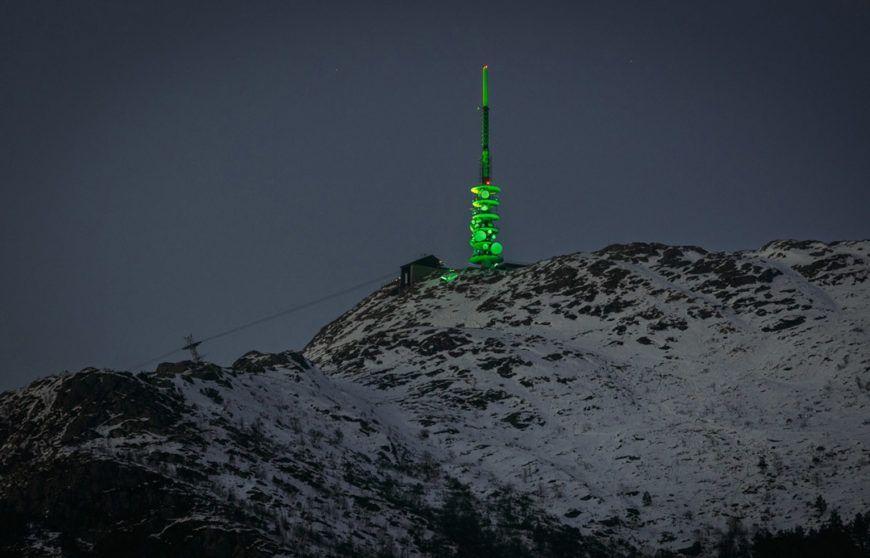 Pic 1 Mount Ulriken Tv Mast Bergen Joins Tourism Irelands Global Greening