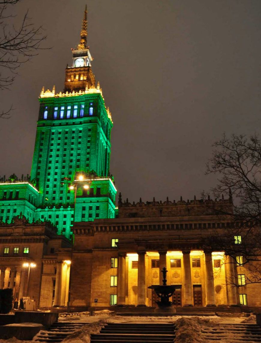 Pic 1 Palace Of Culture And Science Warsaw Joins Tourism Irelands Global Greening