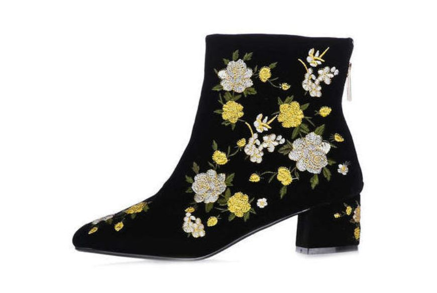 Topshop Blossom Embroidered Boots
