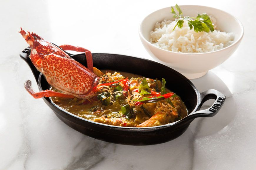 Lobster Moilee With Steamed Basmati
