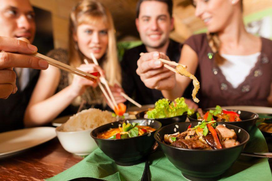 Friends Eating Thai