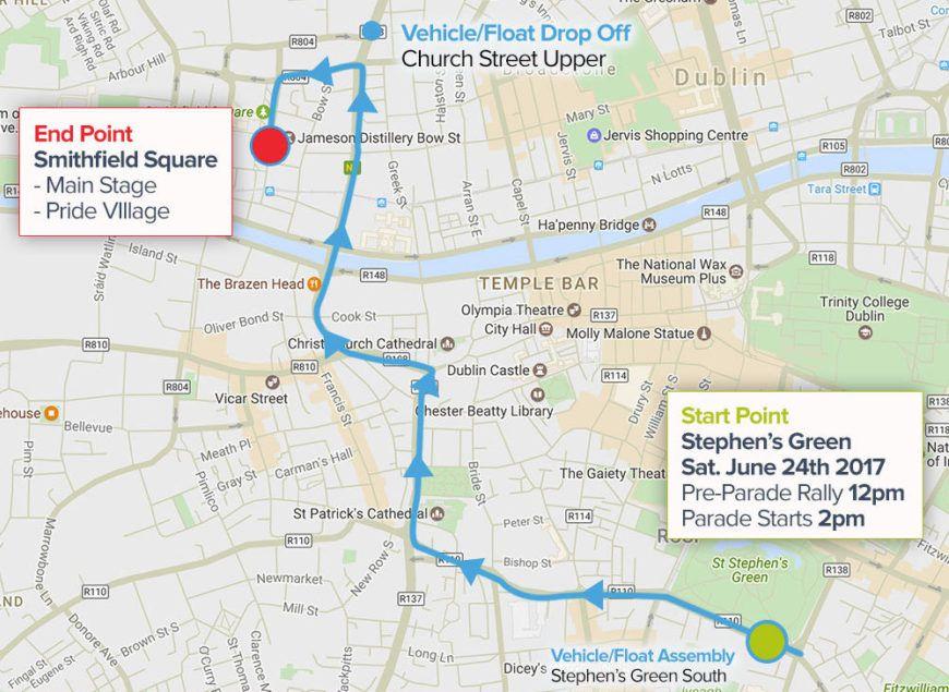 Dublin Pride Route
