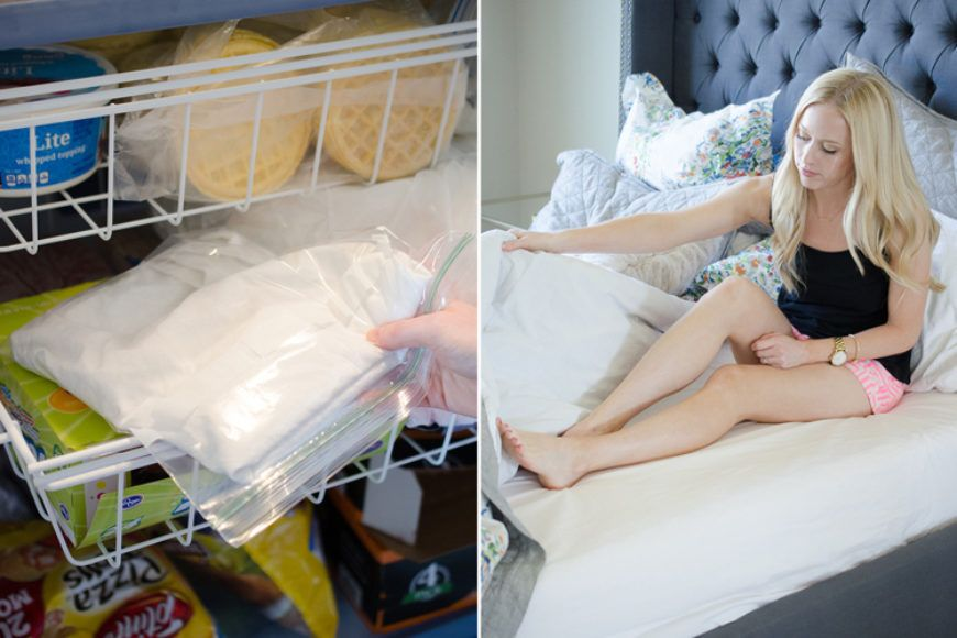 Sheets In Freezer