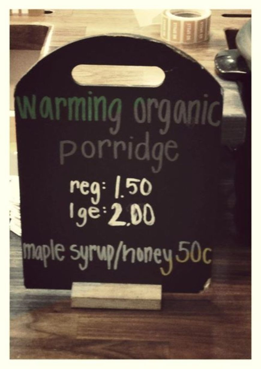 Cafe Sol Porridge