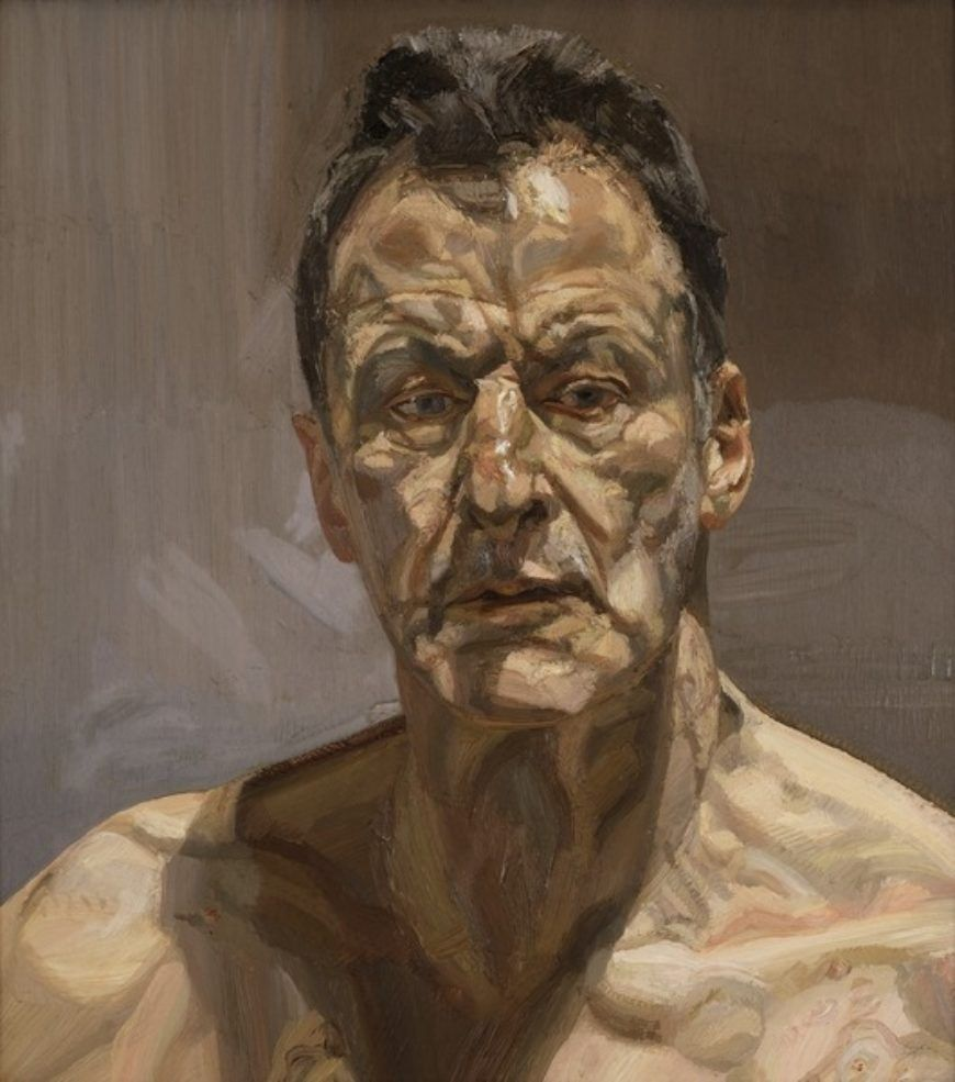 Gdk 619724 Low Res Reflection Self Portrait 1985 Oil On Canvas Freud Lucian