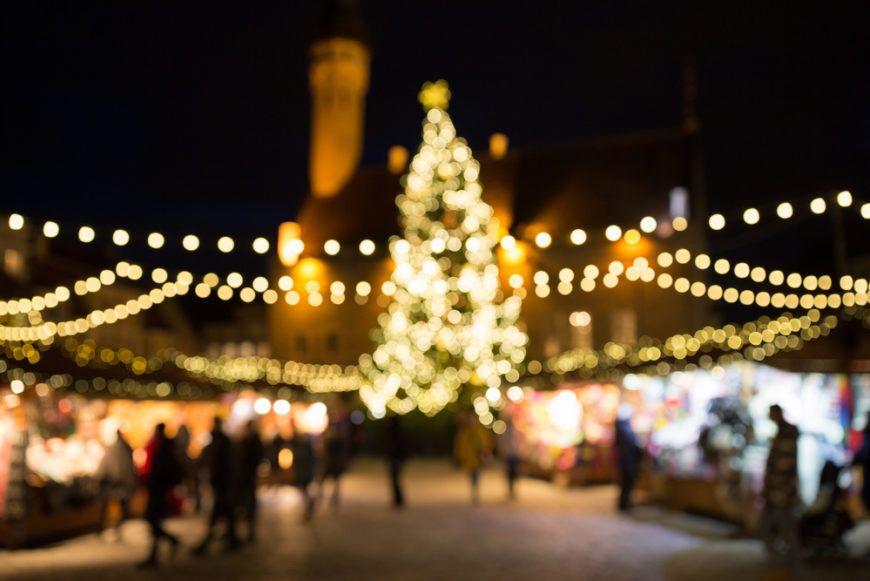Christmas Market Blur
