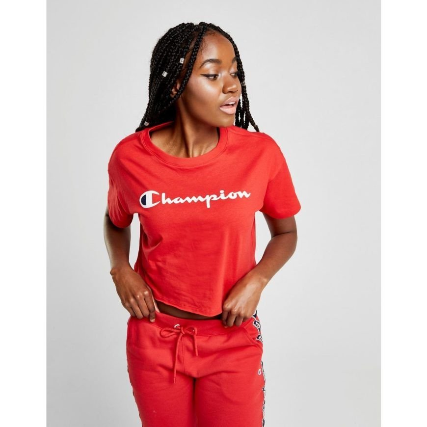 Champion Crop Script T Shirt