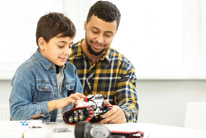 Father Son Robot