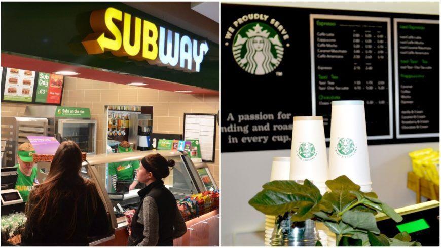 Subway Starbucks