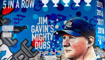 'Five In A Row' Has Been Added To The Jim Gavin Mural In Dublin