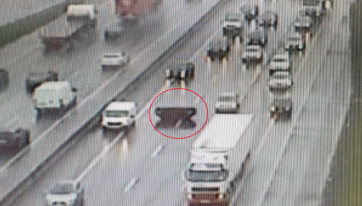 PICS: A Skip Has Landed In The Middle Lane Of The M50 This Afternoon