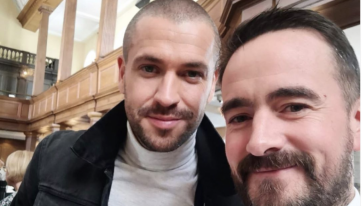 Shayne Ward Stopped Off On Mary Street For A Spot Of Lunch