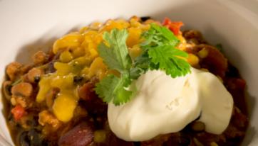 RECIPE: One Pot Veggie Chili With Espresso, Peanut Butter and Dark Chocolate