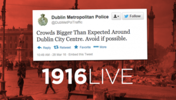1916 REWIND: There's A HUGE Demonstration Happening Around Sackville Street Right Now – So You Might Want To Steer Clear