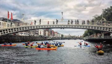 The Best Way To See Dublin Is By Kayak - This Is A Deadly Activity For A Group Of Mates
