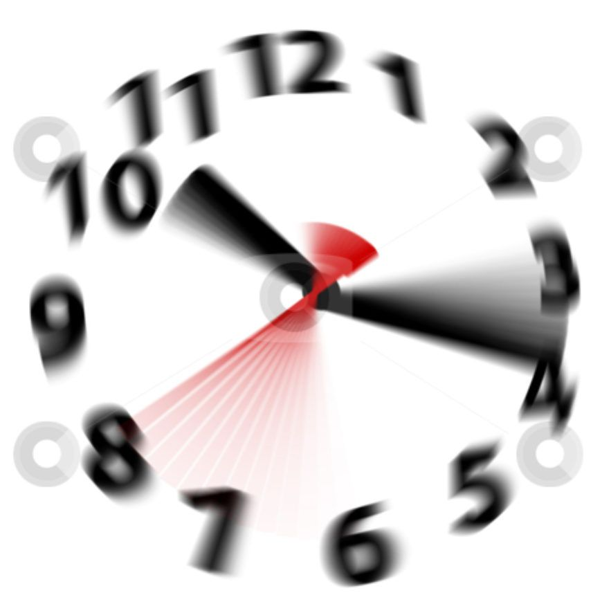 cutcaster-photo-800883620-Time-flies-speed-blur-fast-hands-clock