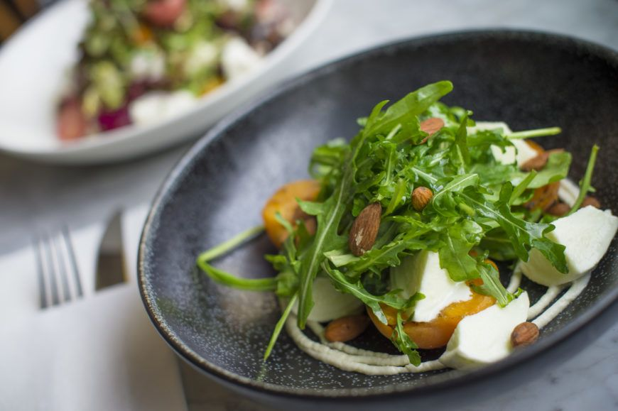 Macroom-buffalo-mozzarella-grilled-apricots-almonds-and-rocket-5-1 1