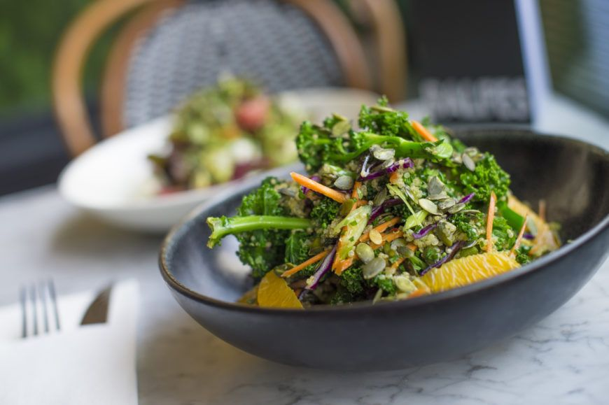 Super-food-salad-kale-red-cabbage-broccoli-pumpkin-seeds-quinoa-orange-and-carrot-dressing-5