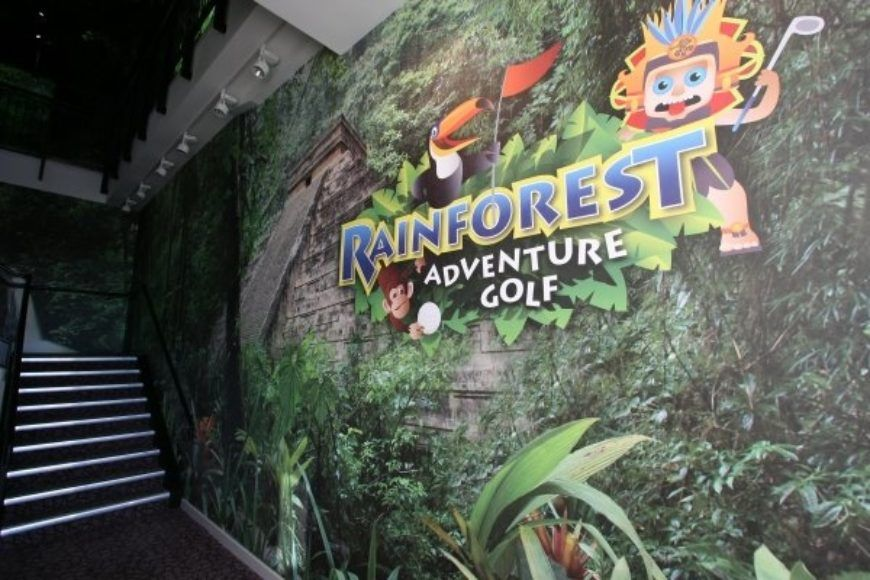 Rainforest adventure golf is one of the most fun activities to do with kids in Dublin