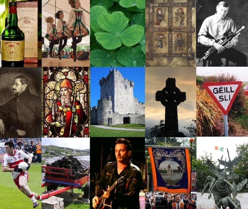 Irish culture collage