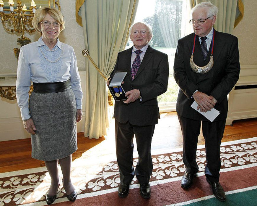 750px  President  Higgins  Receives  Order Of  Clans Of  Ireland