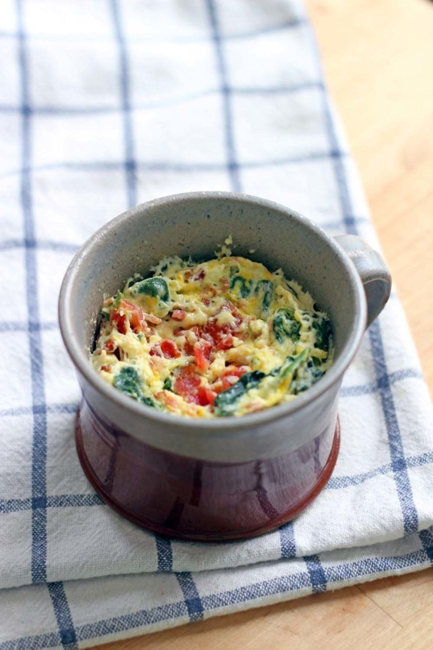 5 Minute Spinach And Cheddar Microwave Quiche In A Mug 3