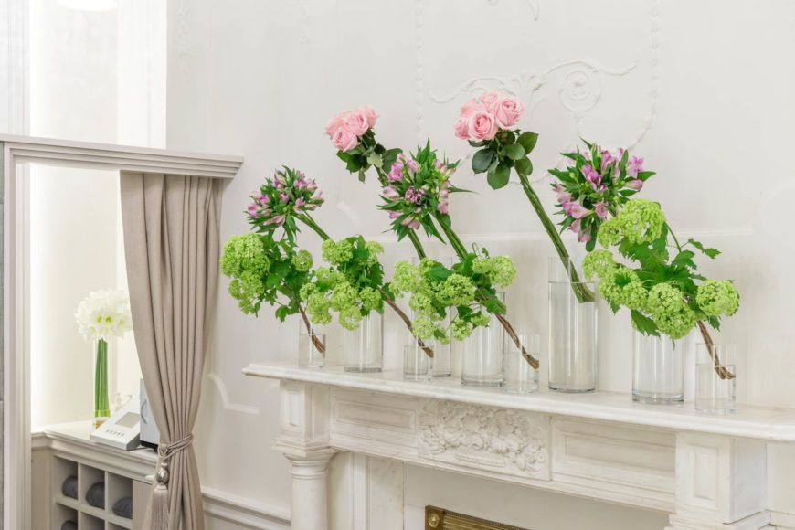 The Salon Mantlepiece Floral Detail Shot 2
