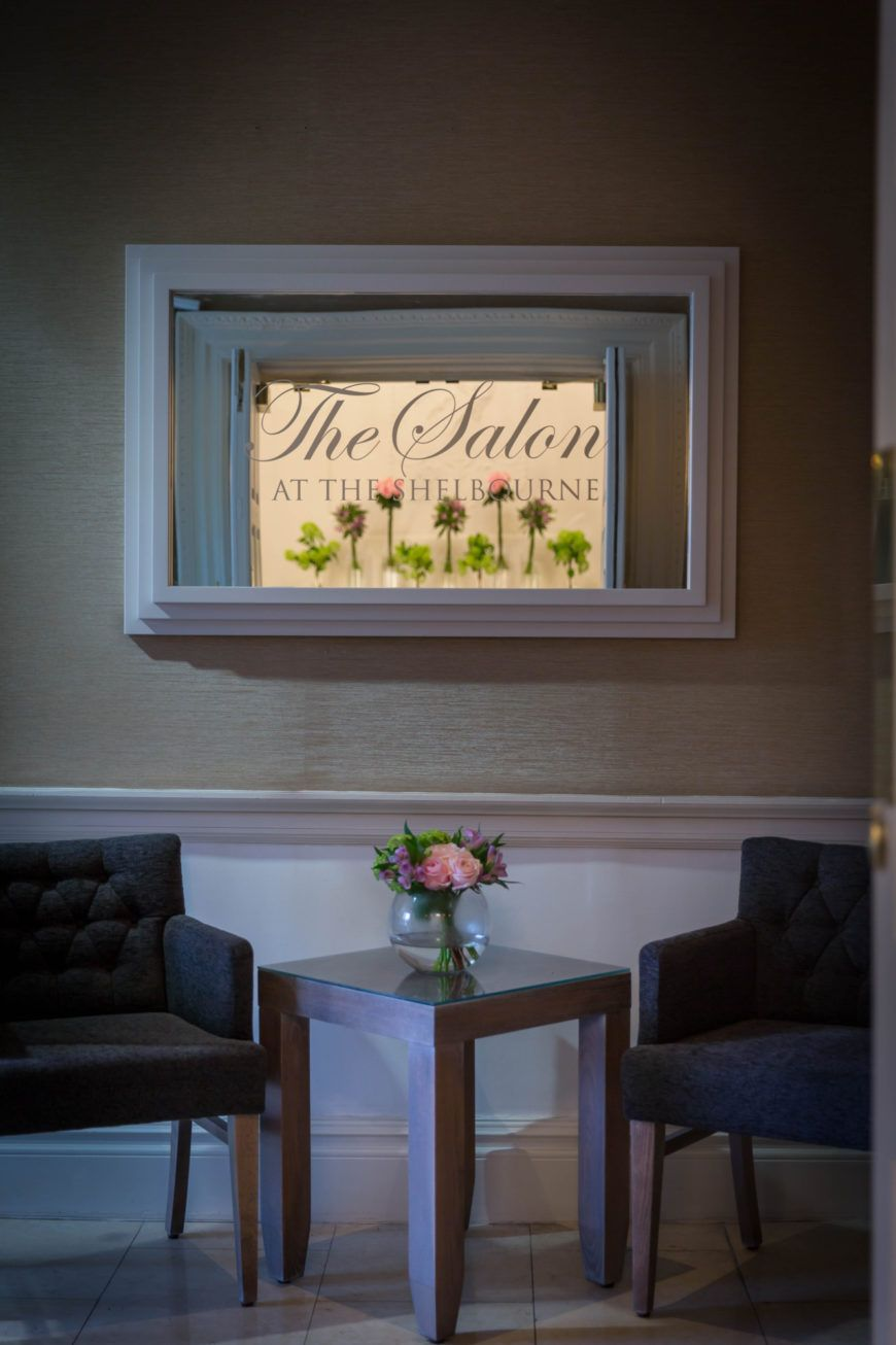 The Salon Mirror And Waiting Area