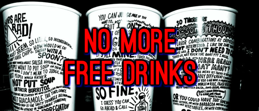No More Free Drinks