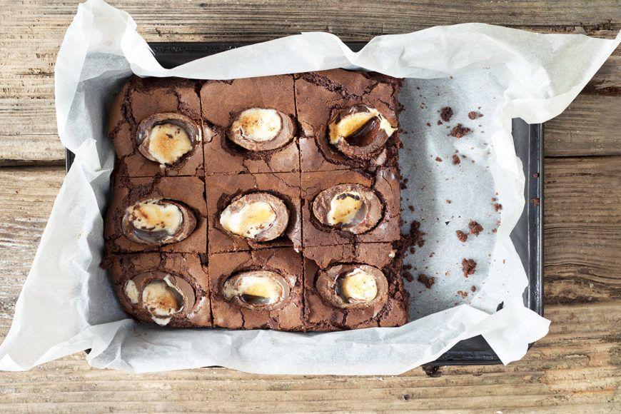 Cadbury Creme Egg Brownies Scrumptious Recipe 1