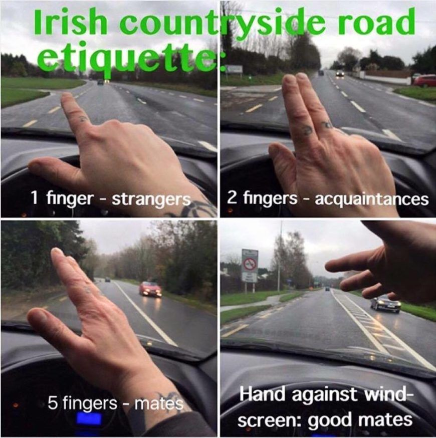 Irish Road Etiquette