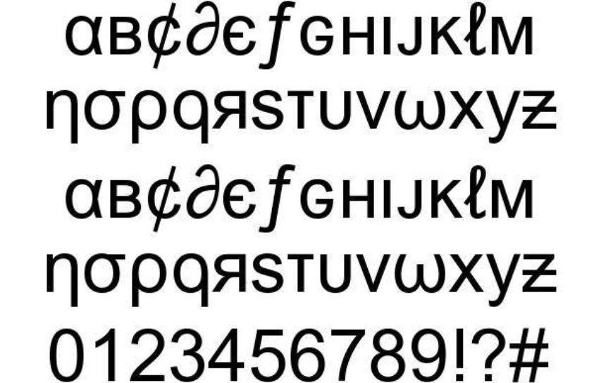 Msn Weird Font Specimen