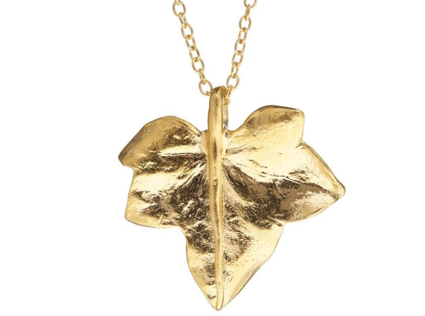 Chupi Print Gold Necklace Wild Ivy Leaf 1